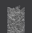 ocean wave seamless black background vector image vector image