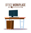office workplace concept furniture vector image vector image