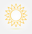 Orange minimal sun icon vector image
