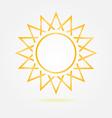 Orange minimal sun icon