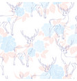 pattern with deer vector image vector image