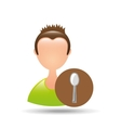 person cooking design vector image
