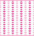 pink geometric hearts stripes seamless pattern vector image vector image