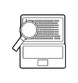 programming code web site development laptop with vector image vector image