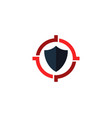 protection target logo icon design vector image