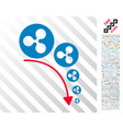 ripple deflation trend flat icon with bonus vector image vector image