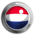 round badge for netherland flag vector image vector image