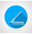 Round icon for scalpel vector image