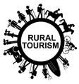 rural tourism frame vector image vector image