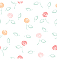 Seamless floral pattern on white vector image