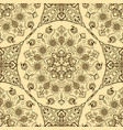 seamless texture with floral mandala vector image vector image