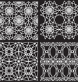 seamless white pattern from diamond cutting vector image