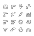 Set line icons of electric tools vector image vector image