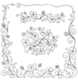 Set of spring design elements vector image vector image