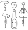 set of wine opener vector image