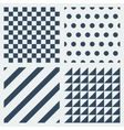 set simple patterns vector image