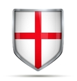Shield with flag England vector image vector image