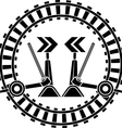 Switch arrows railway vector image vector image
