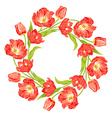 tulips wreath vector image vector image