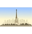 View of france city and eiffel tower vector image