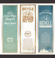 vintage bicycle retro banner for service and shop vector image