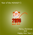 Year of the Monkey 01 vector image vector image