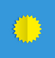 yellow sun on blue background with shadow in vector image vector image