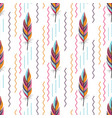 beautiful large bright colored feather pattern vector image