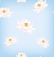 Water lily pattern vector image