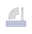 wifi internet router vector image