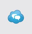 Blue cloud Conversation icon vector image