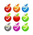 Icons of glossy Apples vector image