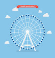 seattle great wheel vector image