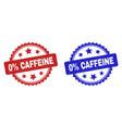 0 percent caffeine rosette watermarks using vector image vector image
