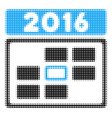 2016 date halftone icon vector image