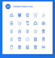 25 waste icons vector image vector image