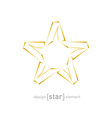 Abstract luxury golden star on white background vector image vector image