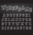alphabet font wireframe design vector image