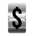 Alphabet silver flipboard letters dollar vector image vector image