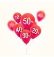 Baloons Discount SALE concept for shop market vector image
