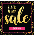 banner for the black friday sale modern vector image vector image