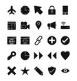 basic ui icon set vector image vector image