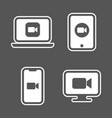 blue camera icons - camera app icons on different vector image vector image