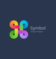 bowen knot symbol logo icon design template vector image vector image
