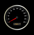 car speedomete vector image vector image