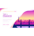 cityscape with houses eiffel tower bridge vector image