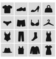 clothes pictogram set simple black icons male vector image