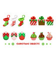 collection decorative objects for happy vector image