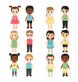 collection of happy children collection of happy vector image vector image