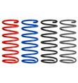 colored metal springs vector image